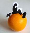 Une crèche sur une orange !