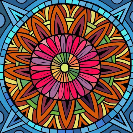 Inde Mandala à colorier