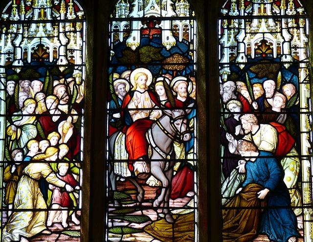 Jésus entre à Jérusalem ; l'entrée d'un people