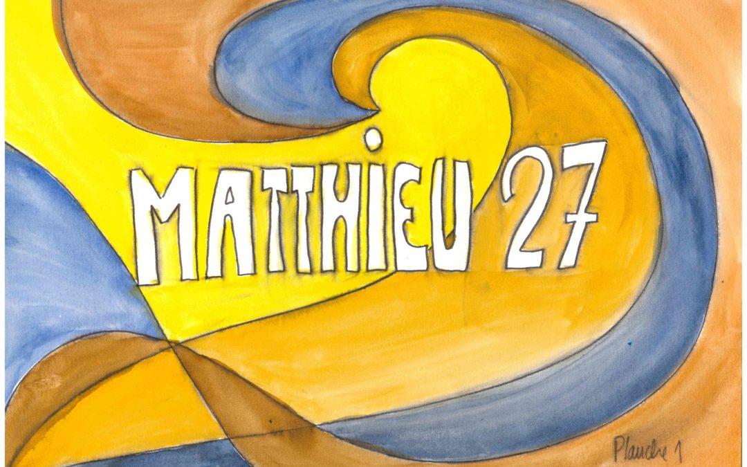 Kamishibai maison : Matthieu 27