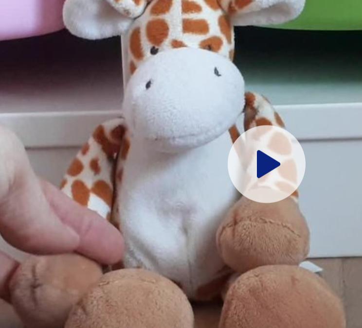 Doudou Girafe et les photos de Pâques