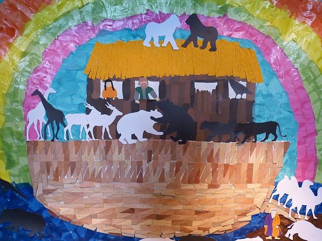 La création de Dieu 4 : Avec toi et les animaux dans l'arche de Noé