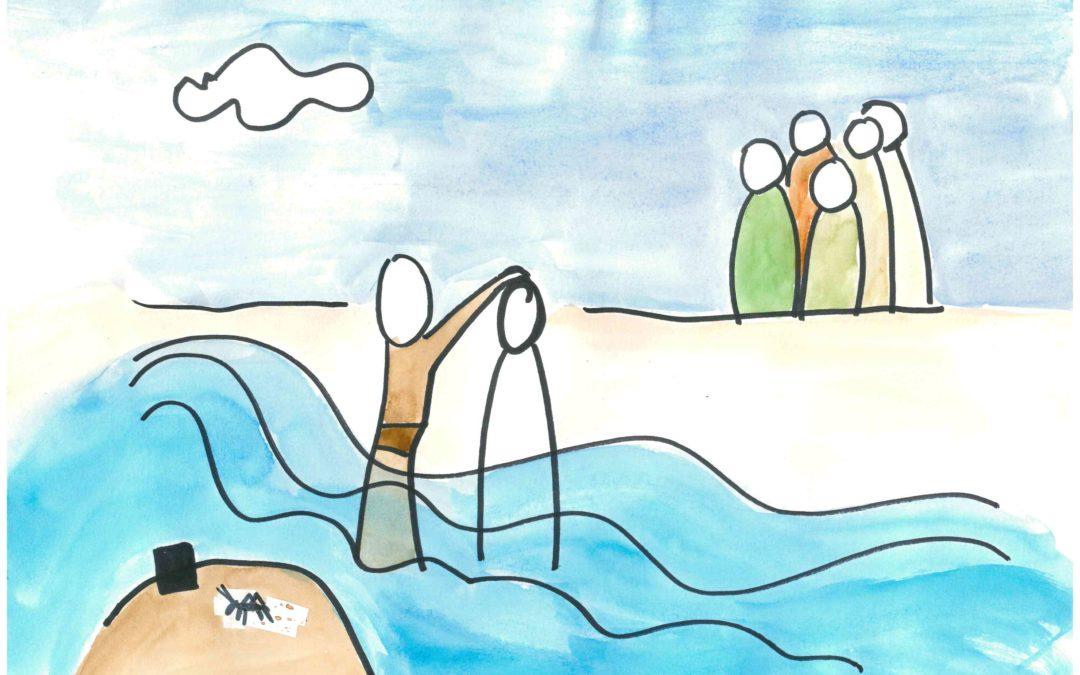Kamishibaï maison : le baptême de Jésus